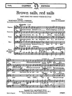 Hulbert Brown Sails, Red Sails Satb  | Chor