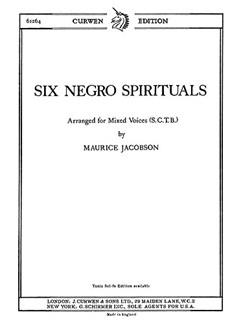 Jacobson, M Six Negro Spirituals Satb  | Kor