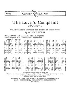 Holst: The Lover's Complaint SATB Books | Soprano, Alto, Tenor, Bass