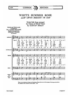 Gustav Holst: White Summer Rose (SATB) Libro | SATB