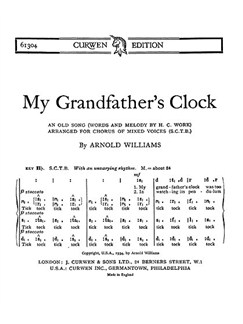 Williams Grandfathers Clock Satb Ton  | Chor