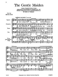 Thiman, E The Gentle Maiden Satb  | Choral