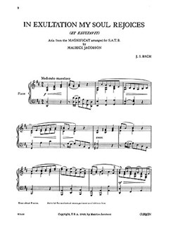 J.S. Bach: In Exultation My Soul Rejoices SATB & Piano Books | Choral, SATB, Piano Accompaniment