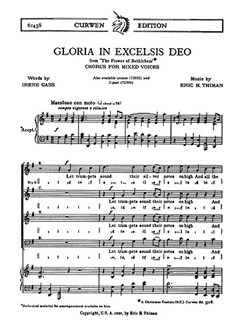 Thiman, E Gloria In Excelsis Deo Satb  | Choral