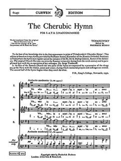 Tchaikovsky The Cherubic Hymn Satb  | Kor