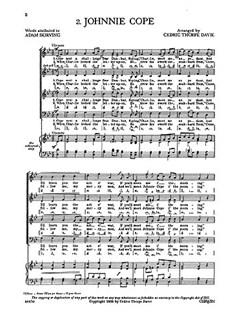 Cedric Thorpe Davie: Johnnie Cope (SATB and Piano) Books | SATB