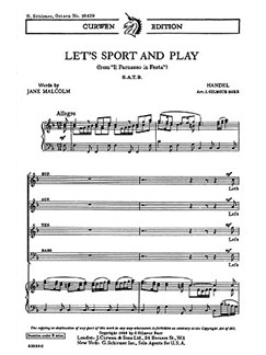 Handel Lets Sport And Play Satb  | Chor