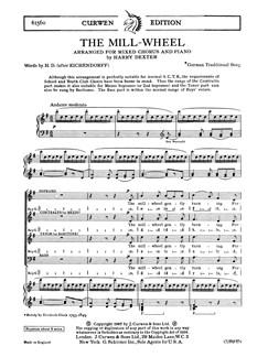 Dexter, H The Mill-wheel Satb/Piano  | Chor
