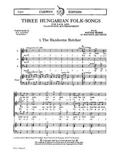 Matyas Seiber: Three Hungarian Folk-songs (SAB/Piano) Books | SAB, Piano