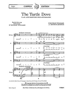 Ralph Vaughan Williams: The Turtle Dove (SAB) Libro | SAB, Acompañamiento de Piano