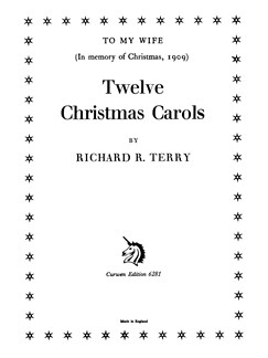 R.R. Terry: Twelve Christmas Carols (SATB) Books | SATB