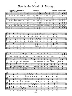 Morley Now Is The Month Of Maying (SATB) Libro | Coral