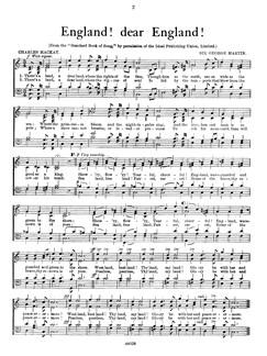 Martin England! Dear England! Satb    Chor