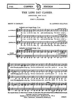 Arthur Sullivan: The Long Day Closes (SSA/PF) Bog | SSA - Lige stemmer, Klaverakkompagnement