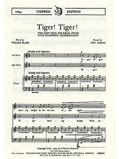May Sarson: Tiger! Tiger! Books | Two Voices and Piano