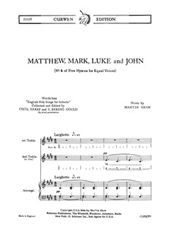 Martin Shaw: Matthew, Mark, Luke And John Books | 2x Soprano (Soprano, Alto) and Piano
