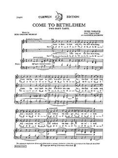 Peter Warlock: Come To Bethlehem (2 Part) Books | 2-Part Choir
