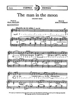 Eric Thiman: The Man In The Moon Libro | Voz al Unísono, Acompañamiento de Piano