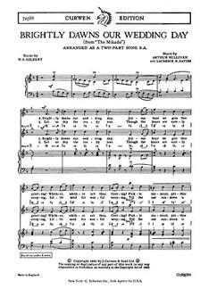 Arthur Sullivan: Brightly Dawns Our Wedding Day (Mikado) - 2-Part Books | 2-Part Choir, Piano Accompaniment