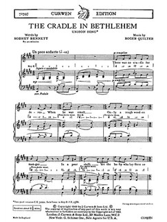 R. Quilter: The Cradle In Bethlehem Unison/Piano Books | Unison Voice, Piano Accompaniment