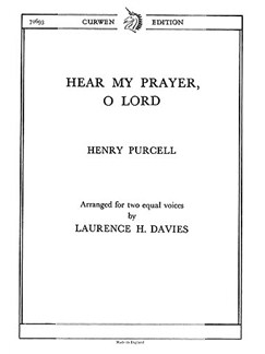 Henry Purcell: Hear My Prayer, O Lord (SA) Bog | SSA - Lige stemmer, Klaverakkompagnement
