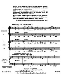 Ralph Vaughan Williams: O Vos Omnes Libro | Alto, SATB