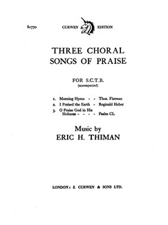 Eric Thiman: Three Choral Songs Of Praise Books | SATB