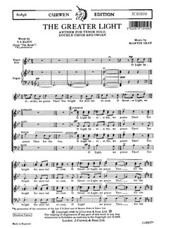 Martin Shaw: The Greater Light Books | SATB, Organ Accompaniment