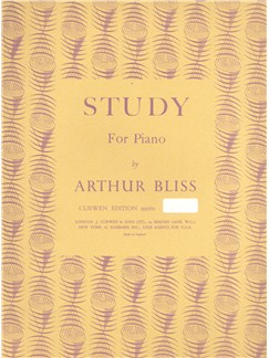Arthur Bliss: Study For Piano Books | Piano