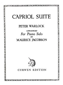 Peter Warlock: Capriol Suite (Solo Piano) Books | Piano