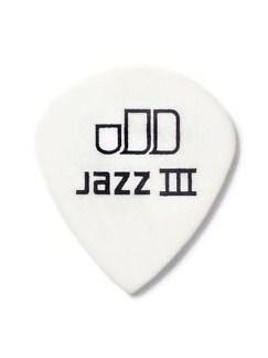 Jim Dunlop: White Tortex Jazz III Plectrum 1.0mm (Pack Of 12)  | Guitar