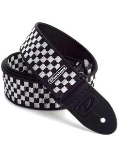 Jim Dunlop: D3831BK Guitar Strap - Black & White Check  |
