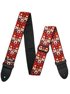 Jim Dunlop: Winterland Red Jacquard Guitar Strap  | Guitar
