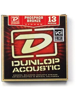 Jim Dunlop: Phosphor Bronze Acoustic Guitar Strings - Medium (.013 - .056)  | Acoustic Guitar
