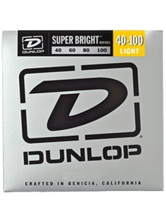 Jim Dunlop: Super Bright Nickel-Wound Bass Strings - Light (.040 - .100)  | Bass Guitar