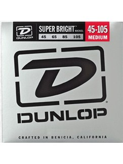 Jim Dunlop: Super Bright Nickel-Wound Bass Strings - Medium (.045 - .105)  | Bass Guitar
