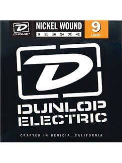 Jim Dunlop DEN0942 Nickel Wound 9-42 Light Gauge Electric Guitar Strings  | Electric Guitar