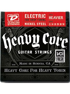 Jim Dunlop: Heavy Core Electric Guitar Strings - Heavier (.011 - .050)  | Electric Guitar