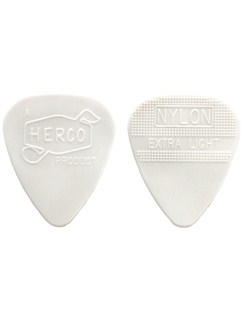 Jim Dunlop: Herco Vintage '66 Extra Light Pick - White (Pack Of Six)  | Guitar, Bass Guitar