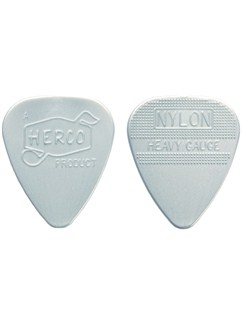 Jim Dunlop: Herco Vintage '66 Heavy Pick - Silver (Pack Of Six)  | Guitar, Bass Guitar