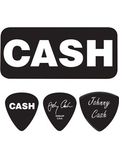 Dunlop: Johnny Cash Bold Heavy Pick Tin  | Guitar