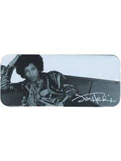 Dunlop: Jimi Hendrix Collector Series Pick Tin - Silver Portrait (12 Hard Picks)  | Guitar