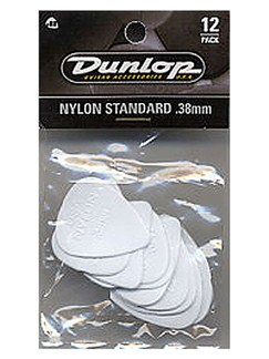Jim Dunlop: Nylon Standard 0.38mm Plectrum (12 Pack)  | Guitar