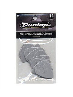 Jim Dunlop: Nylon Standard 0.60mm Plectrum (12 Pack)  | Guitar