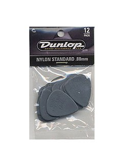 Jim Dunlop: Nylon Standard 0.88mm Plectrum (12 Pack)  | Guitar