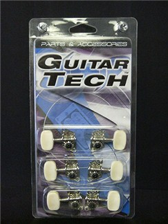 Guitar Tech: GMH16S/J91NI Machine Heads For Steel String Guitar (3 + 3) (White)  | Electric Guitar
