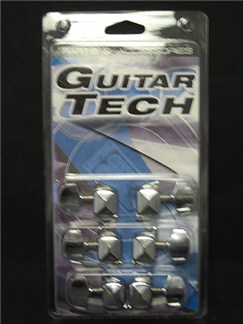 Guitar Tech: J21CR Machine Heads For Steel String Guitar (3 + 3) (Chrome)  | Electric Guitar