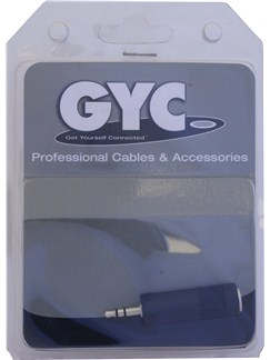 GYC: 6.35mm to 3.5mm Jack Adaptor  |