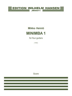 Mikko Heiniö: Minimba I - For Four Guitars (Score) Books | 4 Guitars