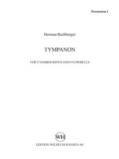 Herman Rechberger: Tympanon (Parts) Books | 5 Percussion